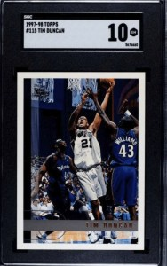tim duncan topps basketball card