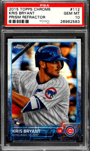 kris bryant rookie card topps