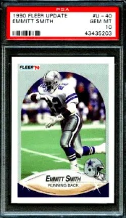 Emmitt Smith Fleer rookie card