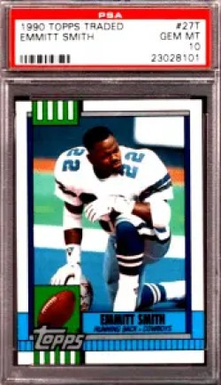 emmitt smith topps rookie card