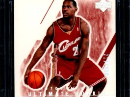 LeBron James autograph card