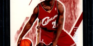 LeBron James autograph card