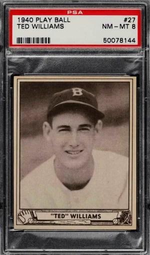 ted williams baseball card value
