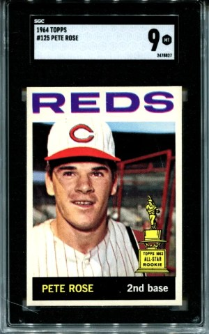 pete rose baseball card value