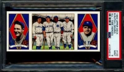 Lou Gehrig Baseball Card Checklist