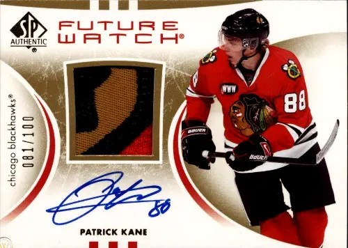 2007 Patrick Kane UD SP Authentic Future Watch rookie card