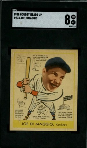 Joe DiMaggio Goudey baseball card