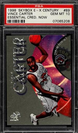 1998 Vince Carter E-X Century rookie card
