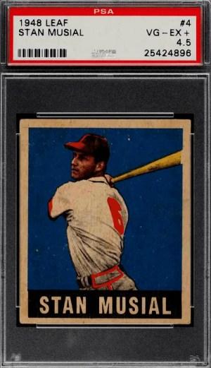 Stan Musial baseball rookie card
