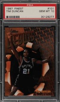 best tim duncan rookie cards