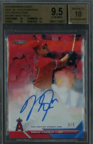 2016 Bowman's Best Mike Trout baseball cards