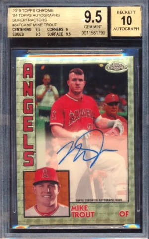 2019 Topps Chrome Mike Trout
