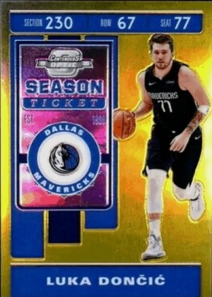 Luka Doncic Contenders Optic Season Ticket