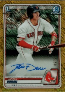 2020 Bowman Chrome Baseball Jarren Duran