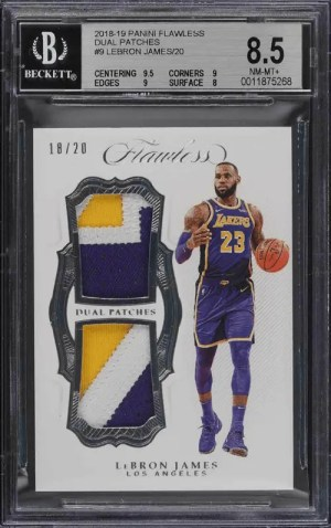 2018 LeBron James Panini Flawless Dual Patches