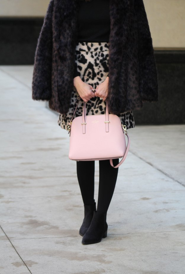 leopard skirt and faux fur 10
