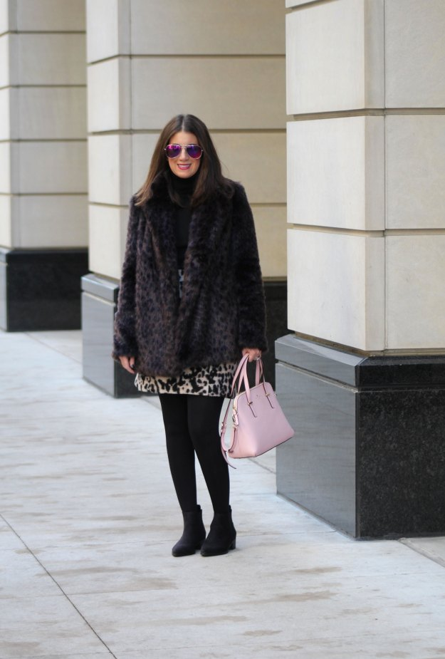 leopard skirt and faux fur 2