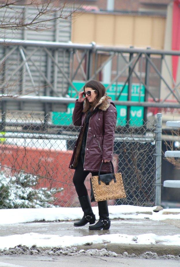 burgundy coat and leopard 11
