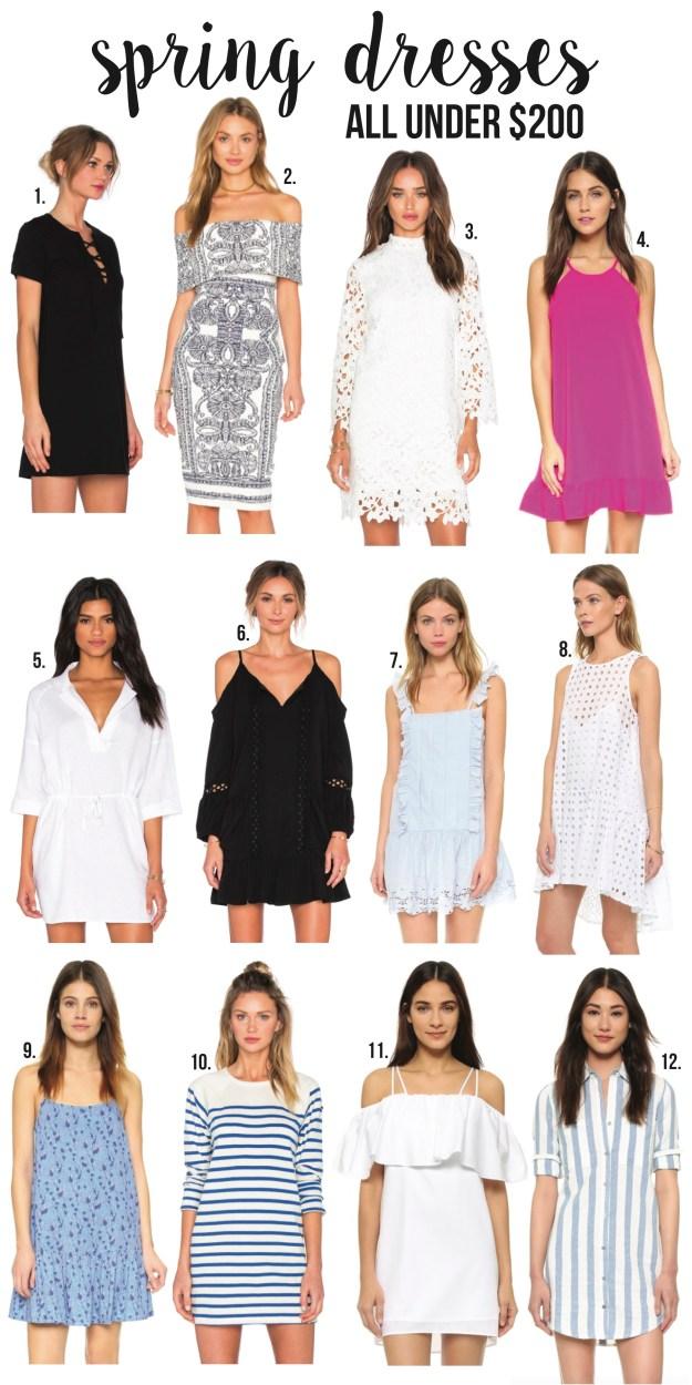 spring dresses for under $200