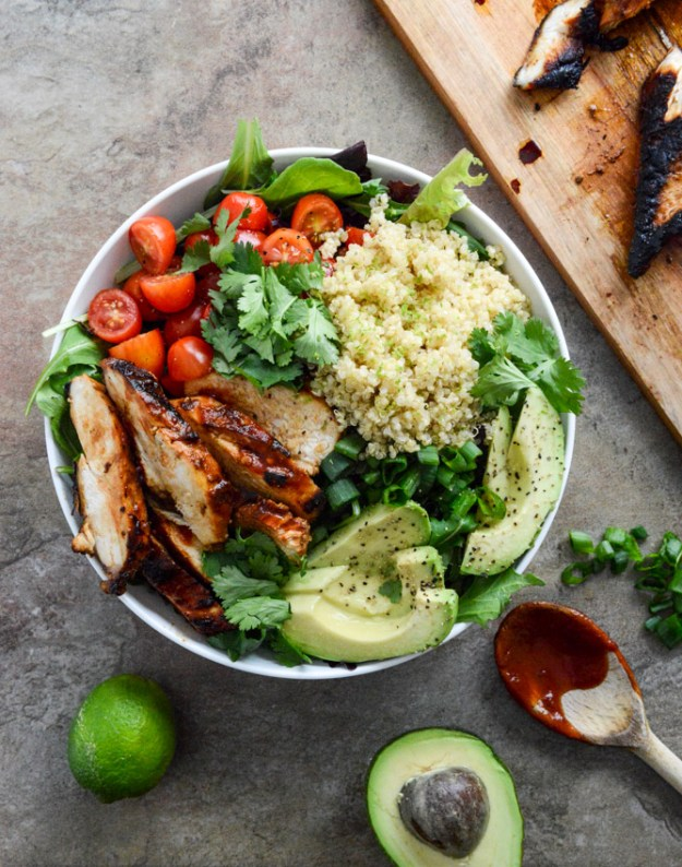 honey chipotle chicken bowl