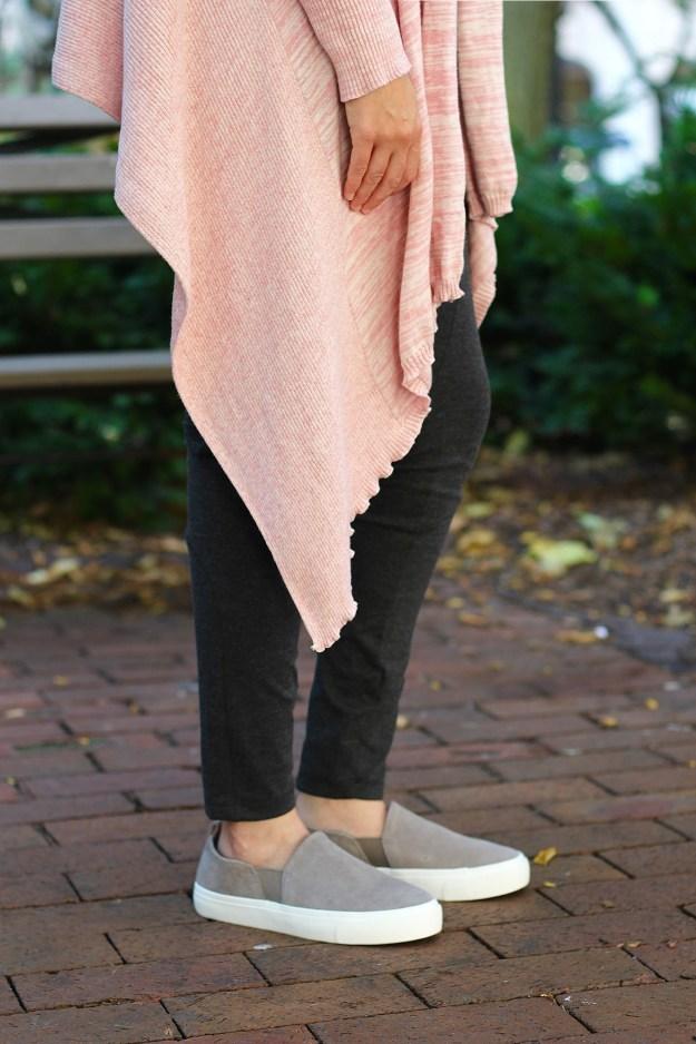 prAna wrap sweater and leggings
