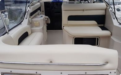 Beige Black Marine Boat Seats Upholstery