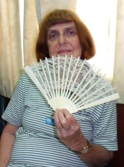 """Lorraine""""s handmade lace fan"""