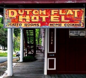 An authentic gold rush hotel