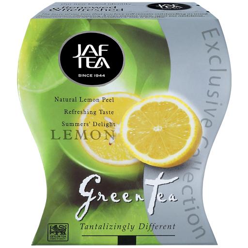 "JAFTEA (Джаф Ти)  зеленый чай ""Лимон"" (Lemon) 100g"