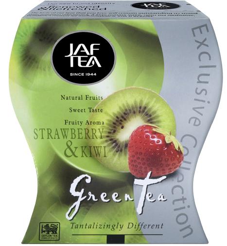 "JAFTEA (Джаф Ти)  зеленый чай ""Клубника и киви"" (Strawberry & Kiwi) 100g"