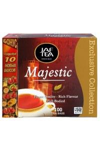 """JAFTEA (Джаф Ти)  черный чай """"Маджестик"""" (Majestic) 110 пакетиков по 2г"""