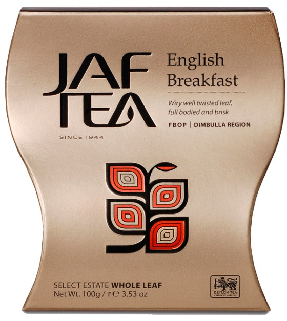 "JAFTEA черный чай ""Английский завтрак"" (English Breakfast) 100g"