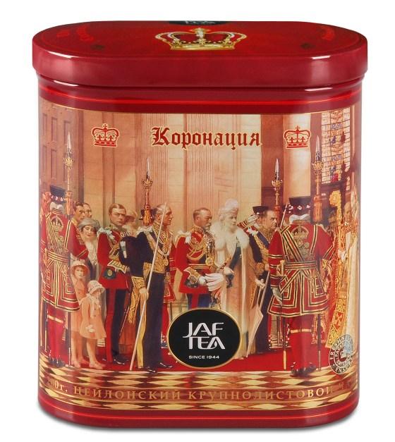 "JAFTEA черный чай ""Коронация"" (Coronation) жестяная банка 200g"