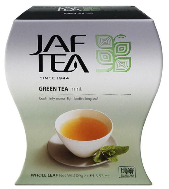 "JAFTEA зеленый чай ""Мята"" (Green Mint) 100g"