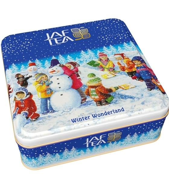 "JAFTEA черный чай ""Зимняя сказка"" (Winter wonderland) OPA+FBOP жестяная банка 80g"