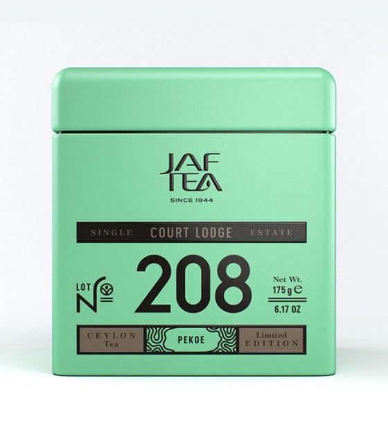 """JAFTEA черный чай №208 """"КОРТ ЛОДЖ"""" (Court Lodge) Pekoe жестяная банка 100g"""