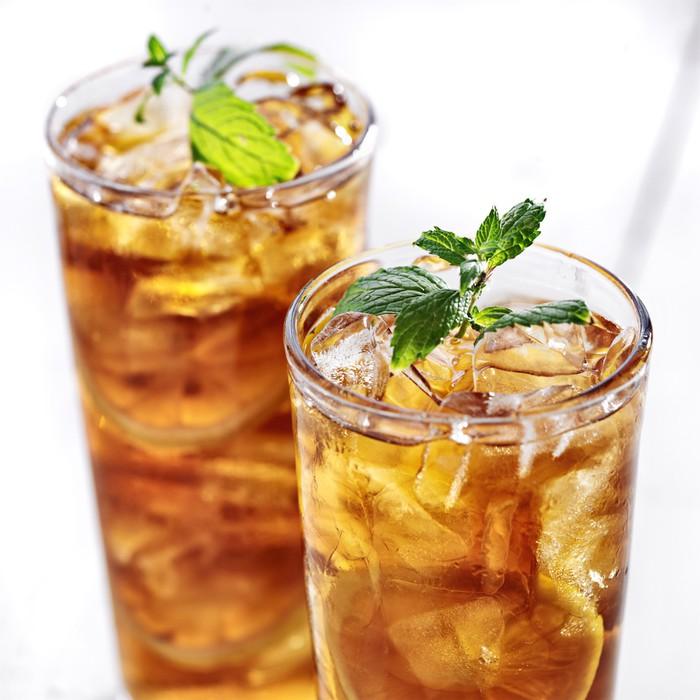 Рецепты с использованием чая. Индийский чай со льдом и мятой.
