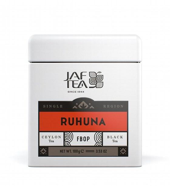 """JAFTEA (Джаф Ти)  черный чай """"РУХУНА"""" (Ruhuna) FBOP жестяная банка 100g"""