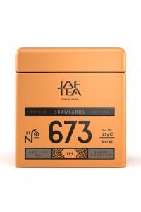 """JAFTEA (Джаф Ти)  черный чай №673 """"ШОУЛЭНДС"""" (SHAWLANDS) OP1 жестяная банка 90g"""