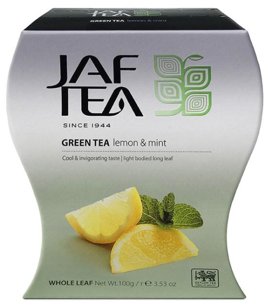 "JAFTEA (Джаф Ти) зеленый чай ""Лимон и Мята"" (Lemon Mint) 100g"