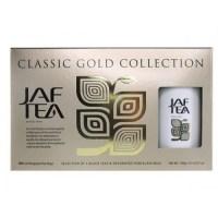 """JAFTEA (Джаф Ти) черный чай """"Классическая золотая коллекция"""" (Classic Gold Collection) с кружкой 50 пакетов по 2г"""