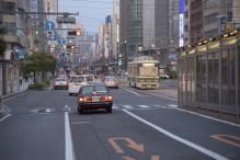 黄昏時に染まる広島市内