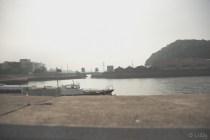 堤防から覗く風景