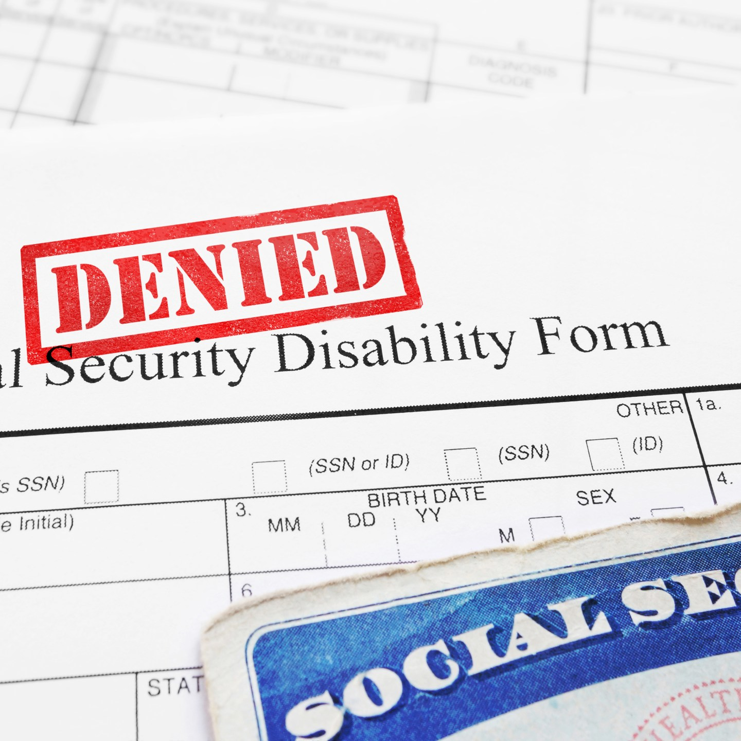 Social Security Applications – Notice of Disapproved Claim.