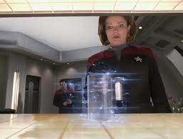 Captain Janeway uses a replicator. Many Star Trek technologies have been borrowed from known galactic appliances