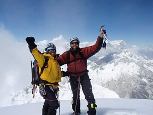 Blind mountaineer
