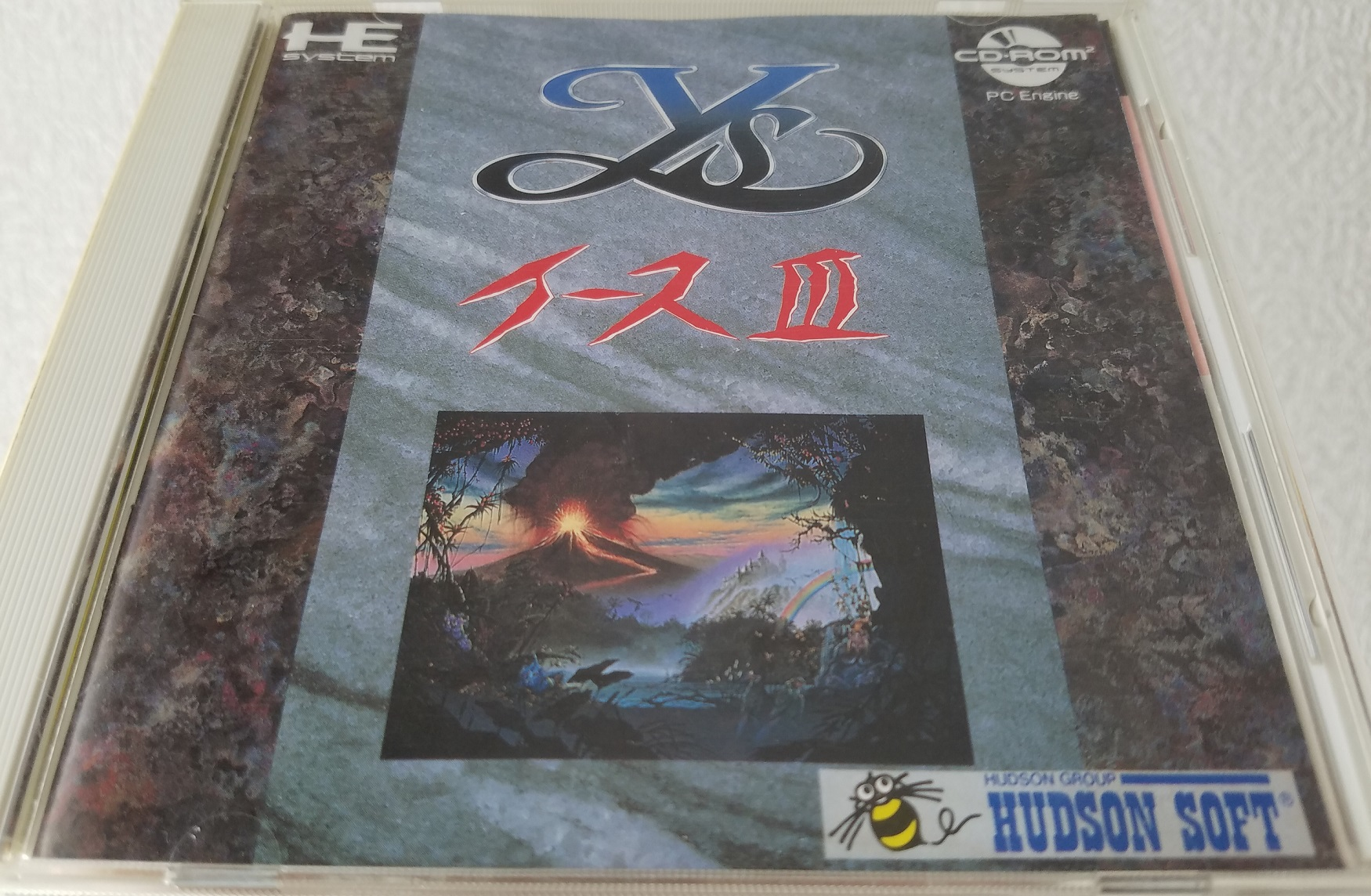 Ys III pc-engine case front cover