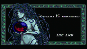 Ys II End Screen