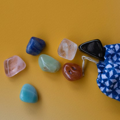 Full Chakra Crystal Set | Golden Blue