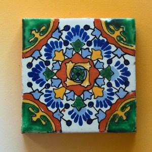 Mexican Tile   Golden Blue